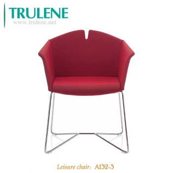 Leisure Chair Modern Accent Living Room Chair Arm Chair Fabric Cushion Seat and Back Metal Legs