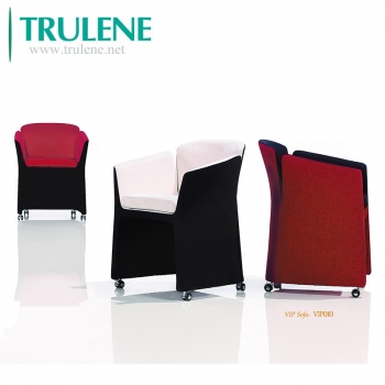 Reception Room Accent Furniture Armchair, Modern Leisure Club Chair with Strong Steel Legs for Bedroom