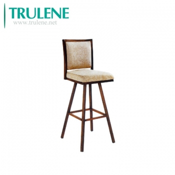 Hot sale design fabric leather seat wooden stool high bar chair for bar table kitchen